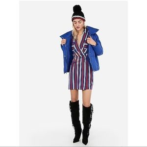 NWT Surplice Striped Pocket Shirt Dress (Size M)